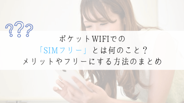ポケットWIFI SIMフリー